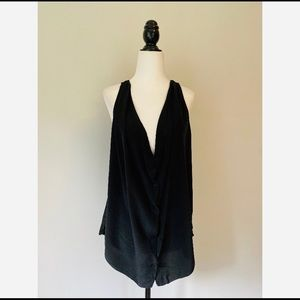 Wilfred 100% Silk Black Ninon Blouse Size Medium